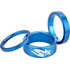 Spank Headset Spacer Kit 3 Stück blau